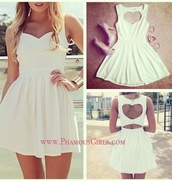dress,heart,heart cut out,heart cutout,heart cut,cut-out,cut-out dress,skater dress,shoes,loveheart cut out