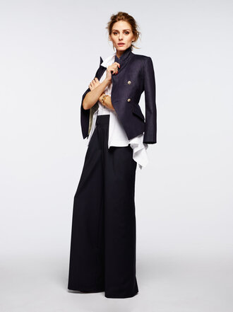 pants jacket blouse shirt olivia palermo