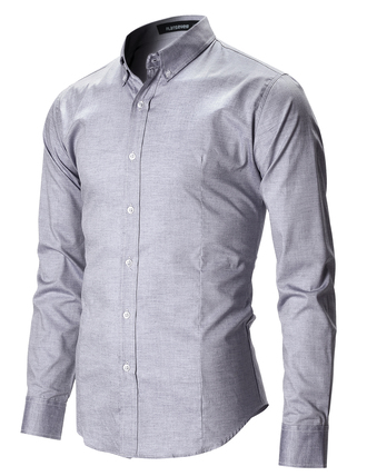 shirt casual business casual grey blue shirt outfit