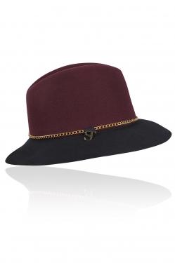 Hiba Hat Plum/Black - Nieuwe artikelen - Shop online