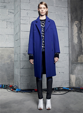 coat,sandro,fashion,lookbook,sweater,jeans