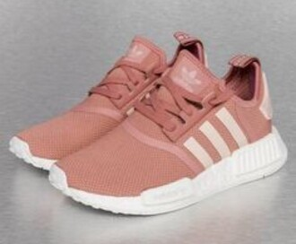 shoes adidas shoes pink sneakers low top sneakers adidas pink nmd r1s custom adidas mauve pink