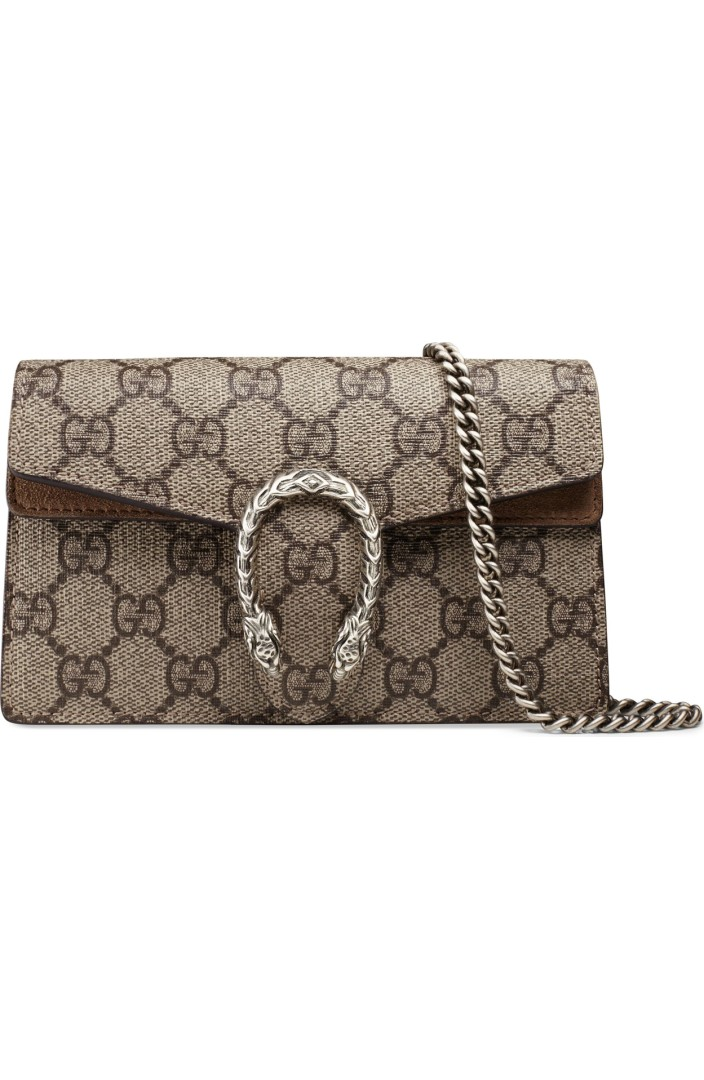 Gucci Super Mini Dionysus GG Supreme Canvas \u0026 Suede Shoulder