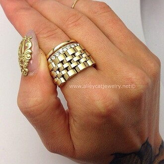 jewels link link ring gold ring handmade ring gold custom ring jewelry ring nail jewels nail jewelry nail jewellery nail art nailart nail accessories nail accessory nail charm nail armour fat ring
