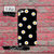 Daisy Flower Pattern Cute Yellow Tumblr Black iPod Touch 4th Generation or iPod Touch 5th Generation Rubber or Plastic Case