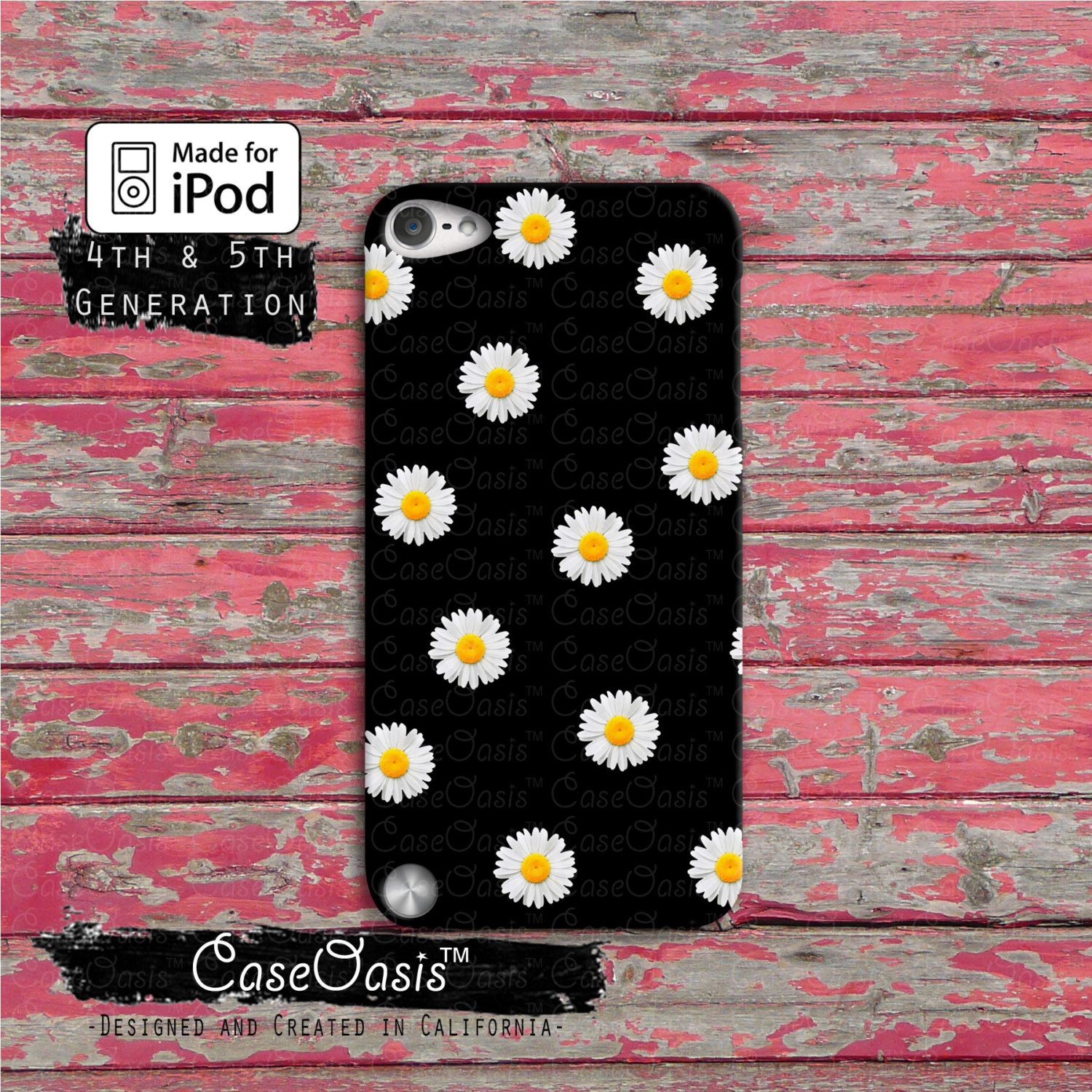 Daisy flower pattern cute yellow tumblr black ipod touch 4th daisy flower pattern cute yellow tumblr black ipod touch 4th generation or ipod touch 5th generation izmirmasajfo