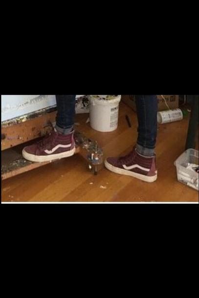 cbb68ee9e5c3 shoes vans vans old skool old skool sneakers burgundy maroon burgundy vans  girls sneakers