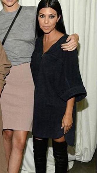 kourtney kardashian black dress tumblr shirt