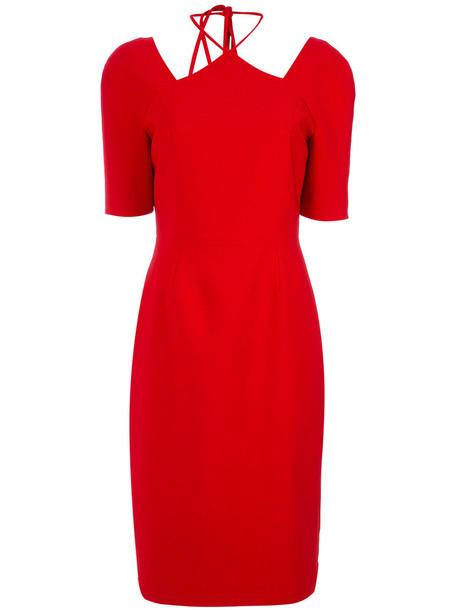 Olympiah dress midi dress women midi spandex red