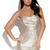 Gold Party Dress - Gold Sequin Strapless Mini Bandeau | UsTrendy