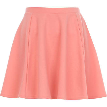 Coral skater skirt - skater skirts - skirts - women on Wanelo