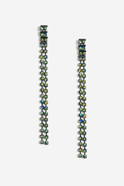 Topshop earrings green jewels