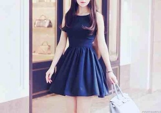 black dress dress blue dress blue blue mini dress mini dress kawaii kawaii dress girly cute pretty style clothes beautiful bag blue bag blue or black