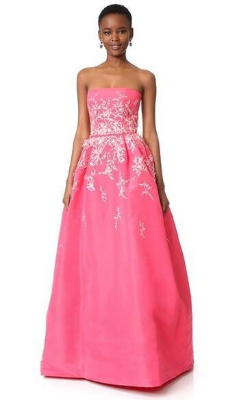 gown strapless ball dress