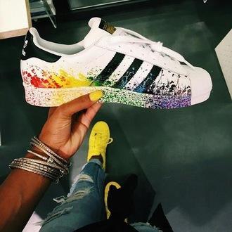 shoes adidas rainbow