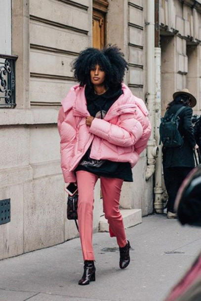 http://picture-cdn.wheretoget.it/u3tz0w-l-610x610-jacket-pink+winter+outfit-pink+jacket-puffer+jacket-oversized-oversized+jacket--black-pants-pink+pants-boots-ankle+boots-black+boots-curly+hair-winter+outfits-winter+coat-winter+lo.jpg