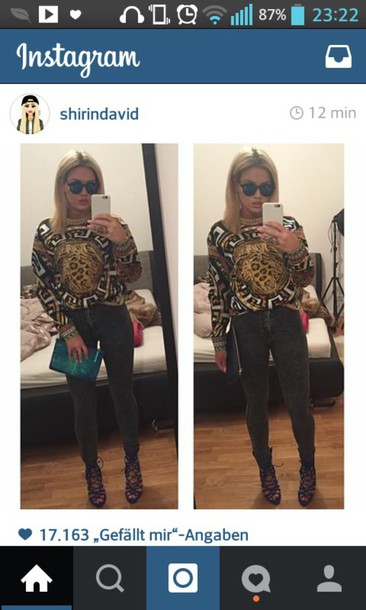 sunglasses sweater jeans shoes
