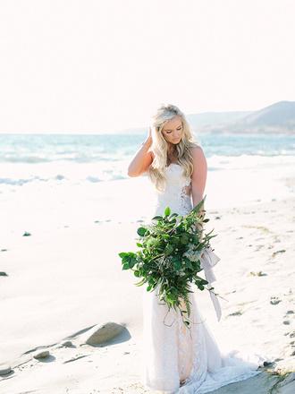 ruffled blog blogger beach wedding wedding dress