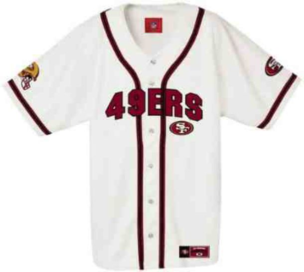 reputable site ffc8f ad7c8 49ers button up jersey