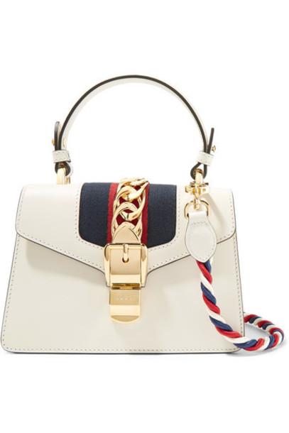 gucci mini embellished bag shoulder bag leather white