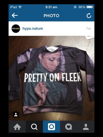 sweater nicki minaj pretty on fleek black