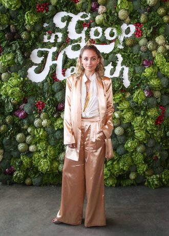 jacket blouse pants wide-leg pants nicole richie blazer house of harlow