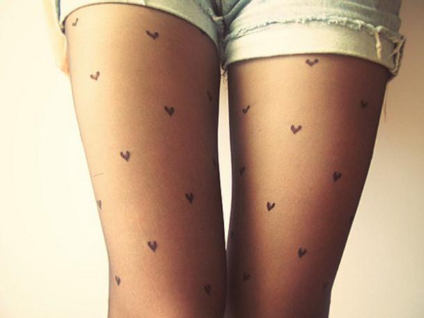 9fb32a3ea7fea pants tights hearts tights heart pantyhose pantyhose cute girly underwear leggings  heart