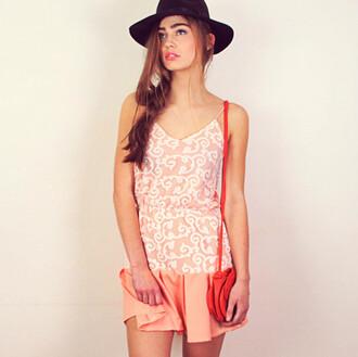 dress pleated patterned dress strappy dress mini dress summer dress