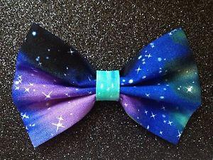 Hair Bow. Space. Galaxy. Stars. Scene. Emo. Grunge. Hair clips. | eBay