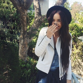 jacket white leather jacket acacia brinley