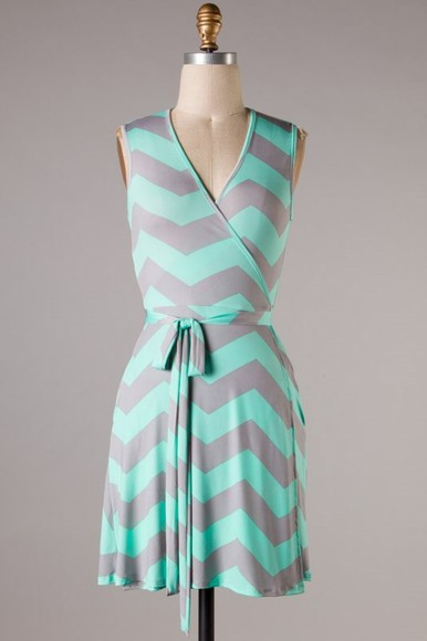 dress sundress surplice chevron