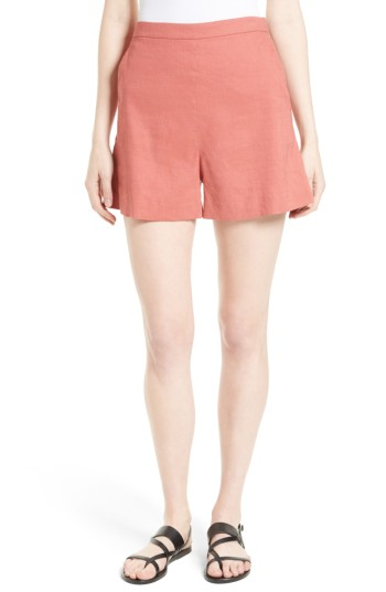 Theory Tarrytown Stretch Linen Blend Shorts | Nordstrom