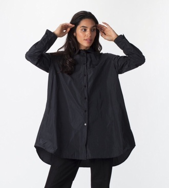 blouse jacket oversized shirt dress black long sleeves black shirt