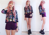 sweater,romwe,pullover,print,romwe pullover,shorts