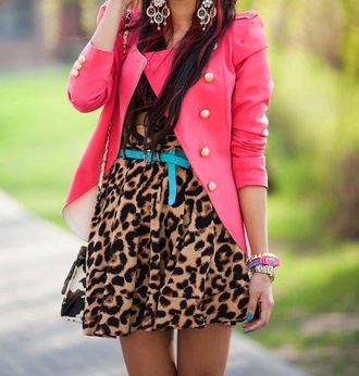 coat pink coat gold buttons girlygirl