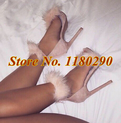 New Fashion Women Brand Design Fur Design Suede Leather Sandals White Pink Pumps Luxury Dress Shoes-in Women's Pumps from Shoes on Aliexpress.com | Alibaba Group