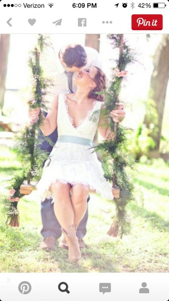 dress country dress wedding dress lace dress white dress rustic