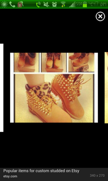 shoes timberlands leopard