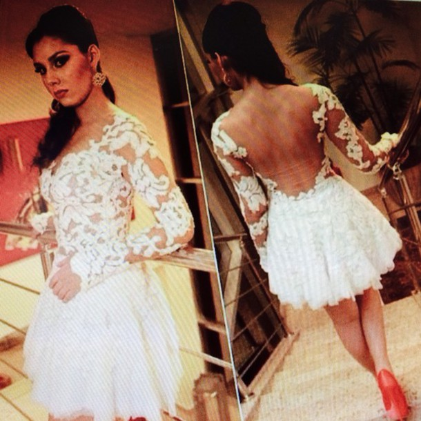 dress ivory lace dress