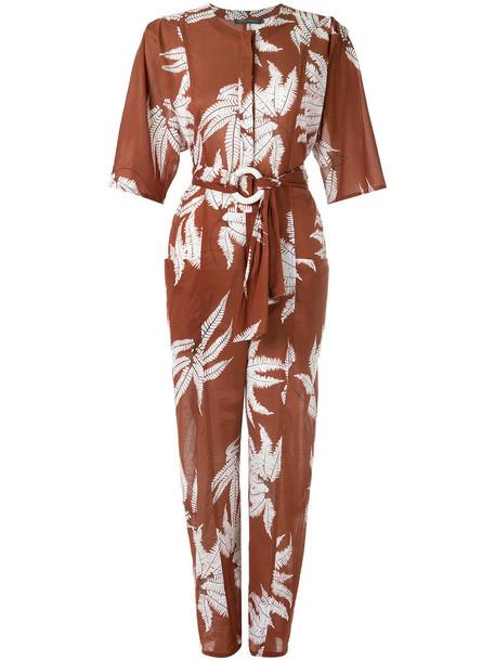 Andrea Marques jumpsuit women cotton brown