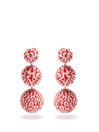 embellished earrings pink jewels