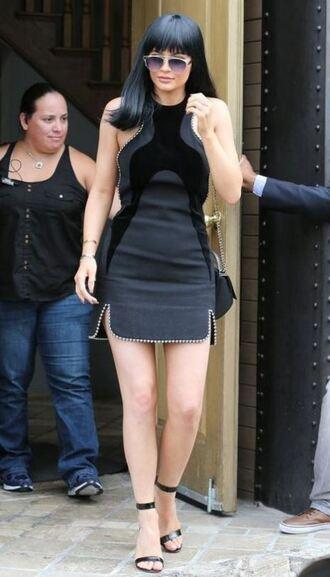 dress mini dress black dress all black everything kylie jenner sandals little black dress