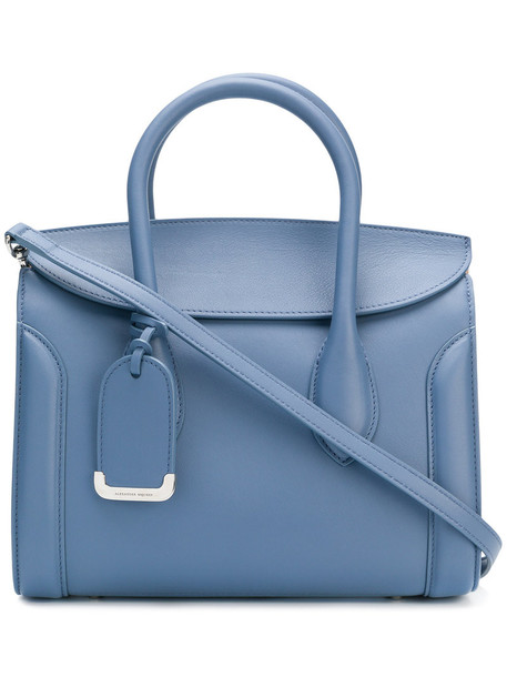 Alexander McQueen - Heroine tote - women - Calf Leather - One Size, Blue, Calf Leather