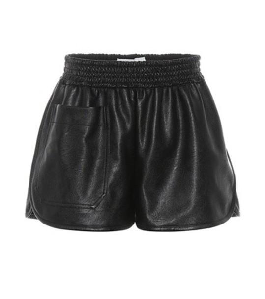 Stella McCartney shorts leather shorts leather black