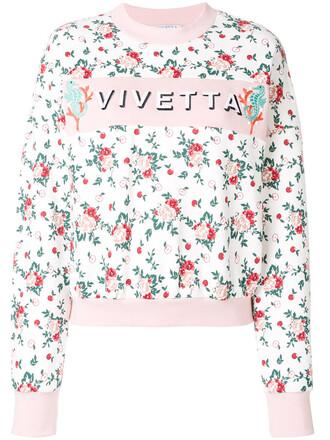 sweatshirt women floral cotton print sweater