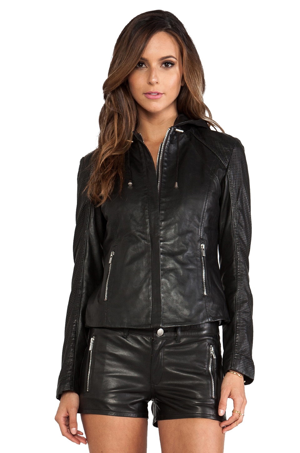 La Marque Collection Audrey Biker Jacket in Black | REVOLVE