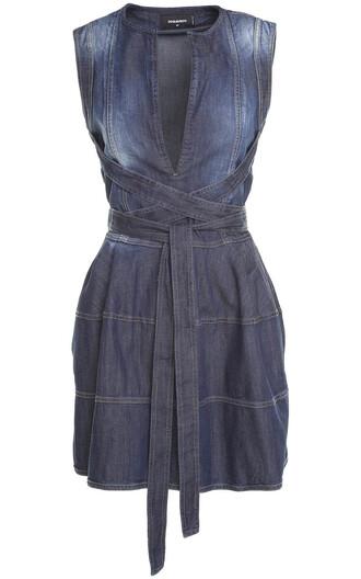 dress mini dress denim mini