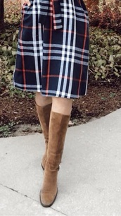 shoes,tall suede boots