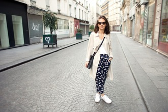 the 4 hundred beats blogger printed pants trench coat