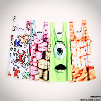 t-shirt cartoon top colour food